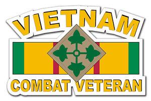 Vietnam-4th-Infantry-Div-Combat-Veteran-5-5-034-Window-Sticker-Decal