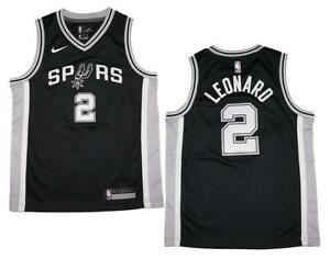 d506346d9a9 Youth Nike Kawhi Leonard San Antonio Spurs Black Swingman Jersey ...