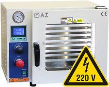 Ai 5 Sided 0.9 CF 220V Vacuum Oven w/ St St Tubing Oil-Fill Gauge 2-Yr Warranty
