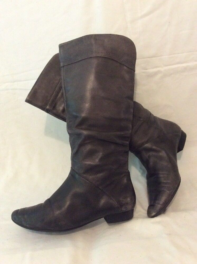 Aldo Brown Knee High Leather Boots Size 38