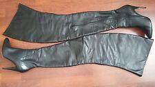 Gr. 41 ItalianHeels Unikat Damen High Heels Leder Stiefel Overknee Leather Boots