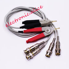 1 Set 4 Bnc To Alligator Clip Kelvin Clip For Lcr Meter With 4 Bnc Test Wires