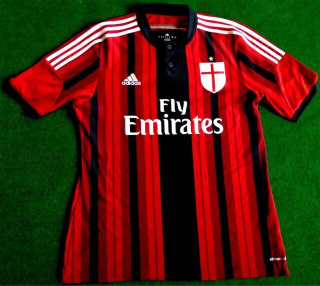 AC Milán Milan Jersey Maillot Camiseta Tamaño L ADIDAS para Hombre/Hombre ACM 2