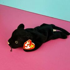 - MWMTs TY Beanie Baby 4th Gen hang tag VELVET the Black Panther 8.5 inch