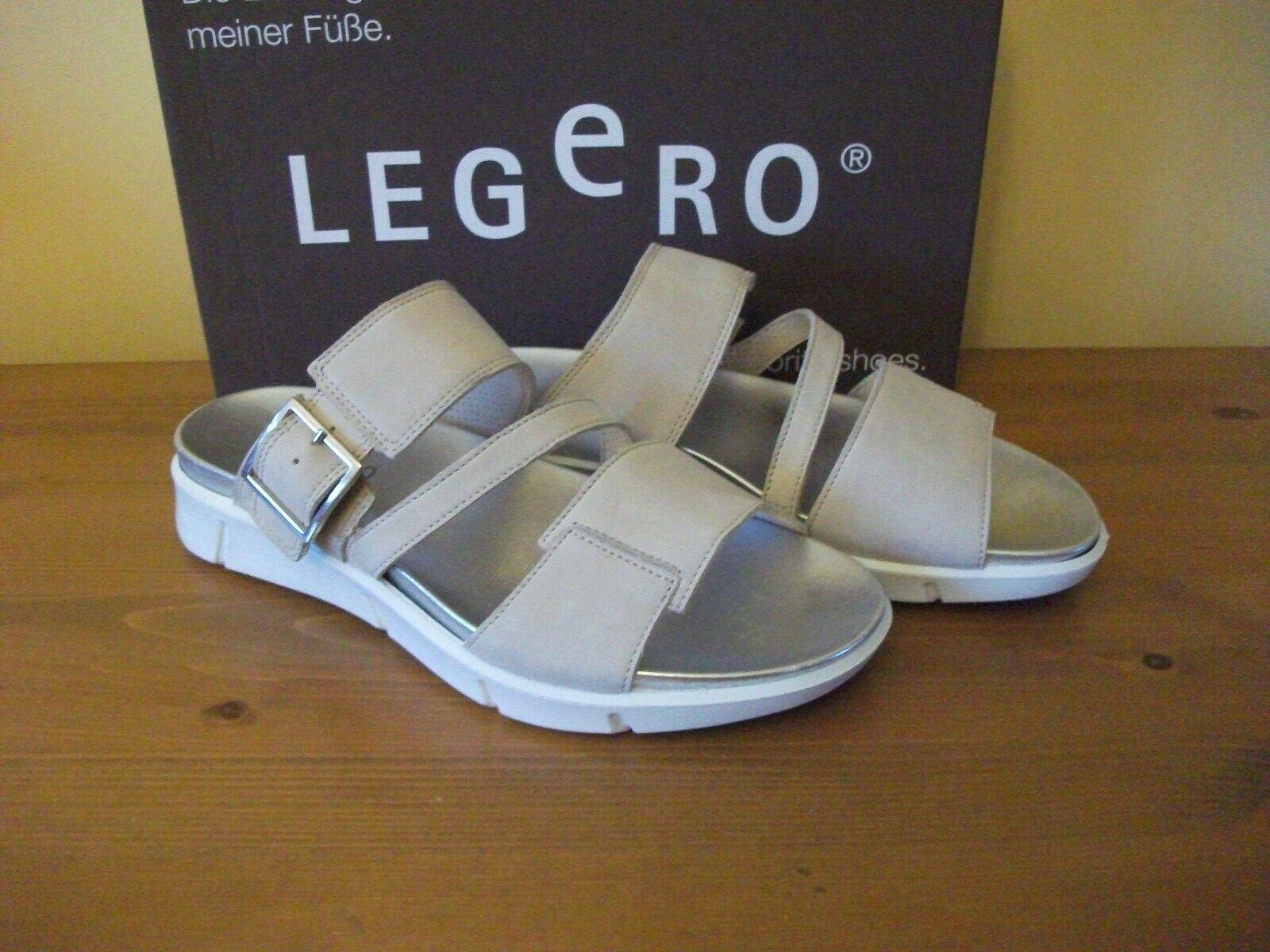 Ladies LEGERO 744 Beige NUBUCK Buckle SLIDER Sandal Size UK 4 EUR 37 New