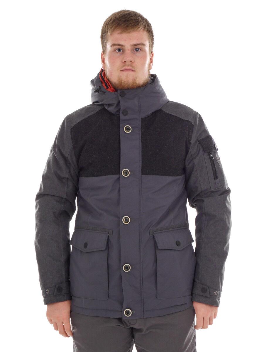 CMP Outdoorjacke Outdoorjacke Outdoorjacke Winterjacke Wetterjacke grau Taschen isolierend c1b380