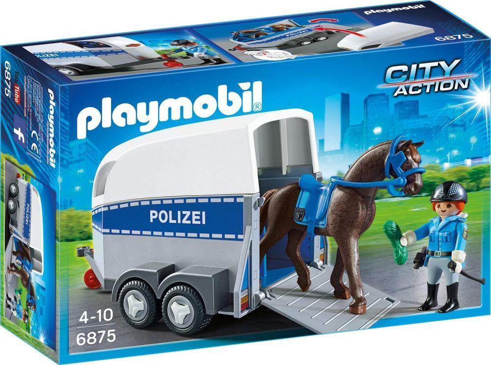 PLAYMOBIL 6875 - Berittene Polizei mit Anhänger