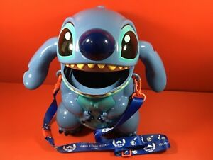Used TDL Popcorn bucket Disney Stitch Christmas version limited F//S Japan