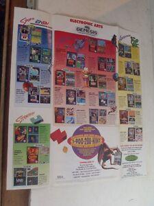sega genesis poster insert electronic arts james pond ebay