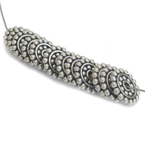 25 Metallperlen SPACER Scheiben 14x2mm platinfarbig Perlen nenad-design AN087
