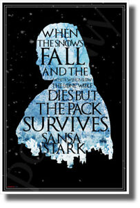 The-Lone-Wolf-Dies-But-The-Pack-Survives-Sansa-Stark-NEW-Novelty-GOT-POSTER
