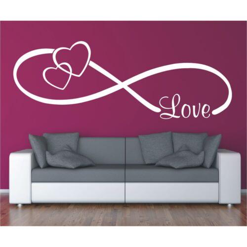 Wall Tattoo saying Infinity Symbol Love Love Infinity Wedding Wall Sticker