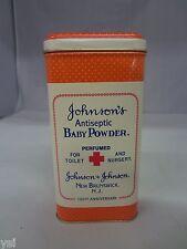 VINTAGE JOHNSONS BABY  TALCUM POWDER TALC TIN  ADVERTISING  S-1215