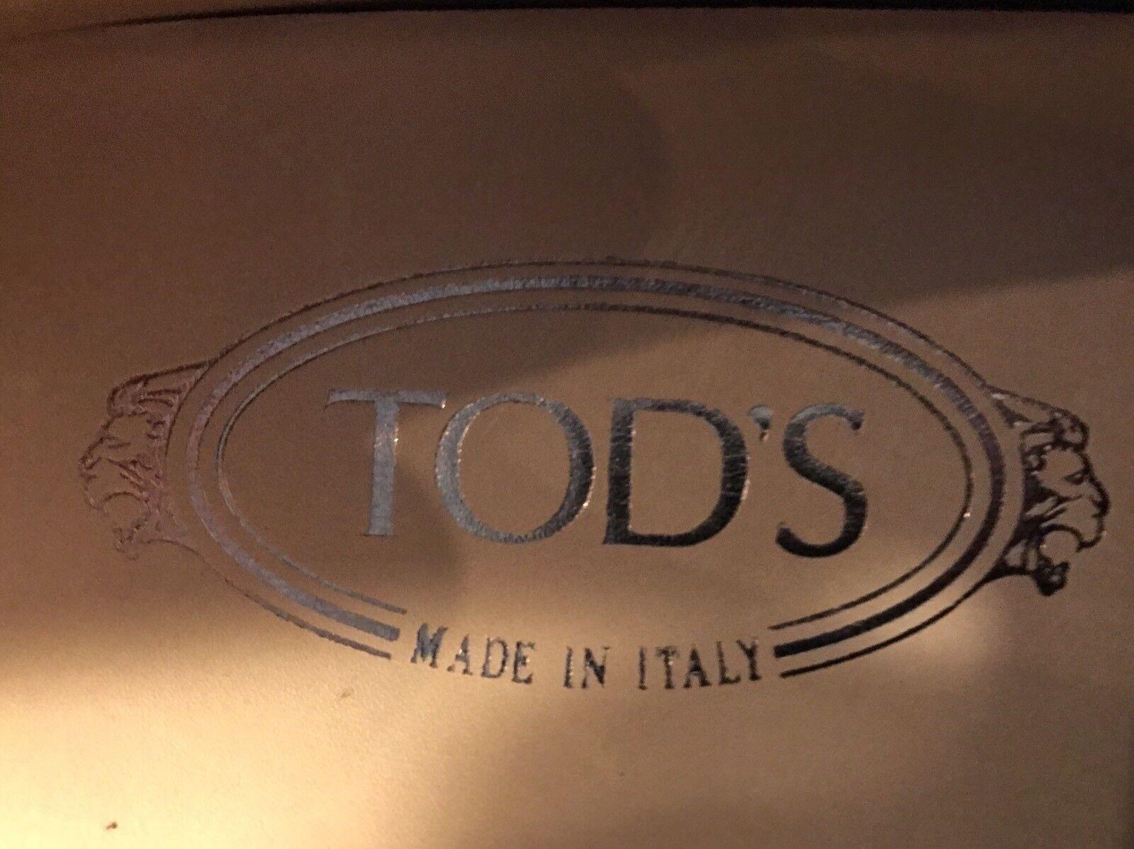 2018  Tod'S Rojo Gamuza Laccetto City Gommini controladores UU. de EE. UU. controladores hecho en Italia b33a53