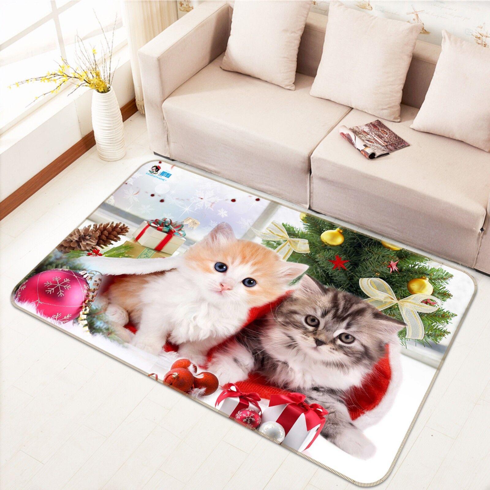 3D Cats Festival 898 Non Slip Rug Mat Room Mat Quality Elegant Photo Carpet US