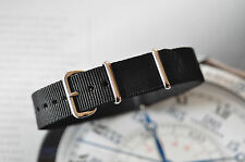 Rare19mm Black Strap for Vintage Omega Seamaster Watch Nice NAY T0 Band