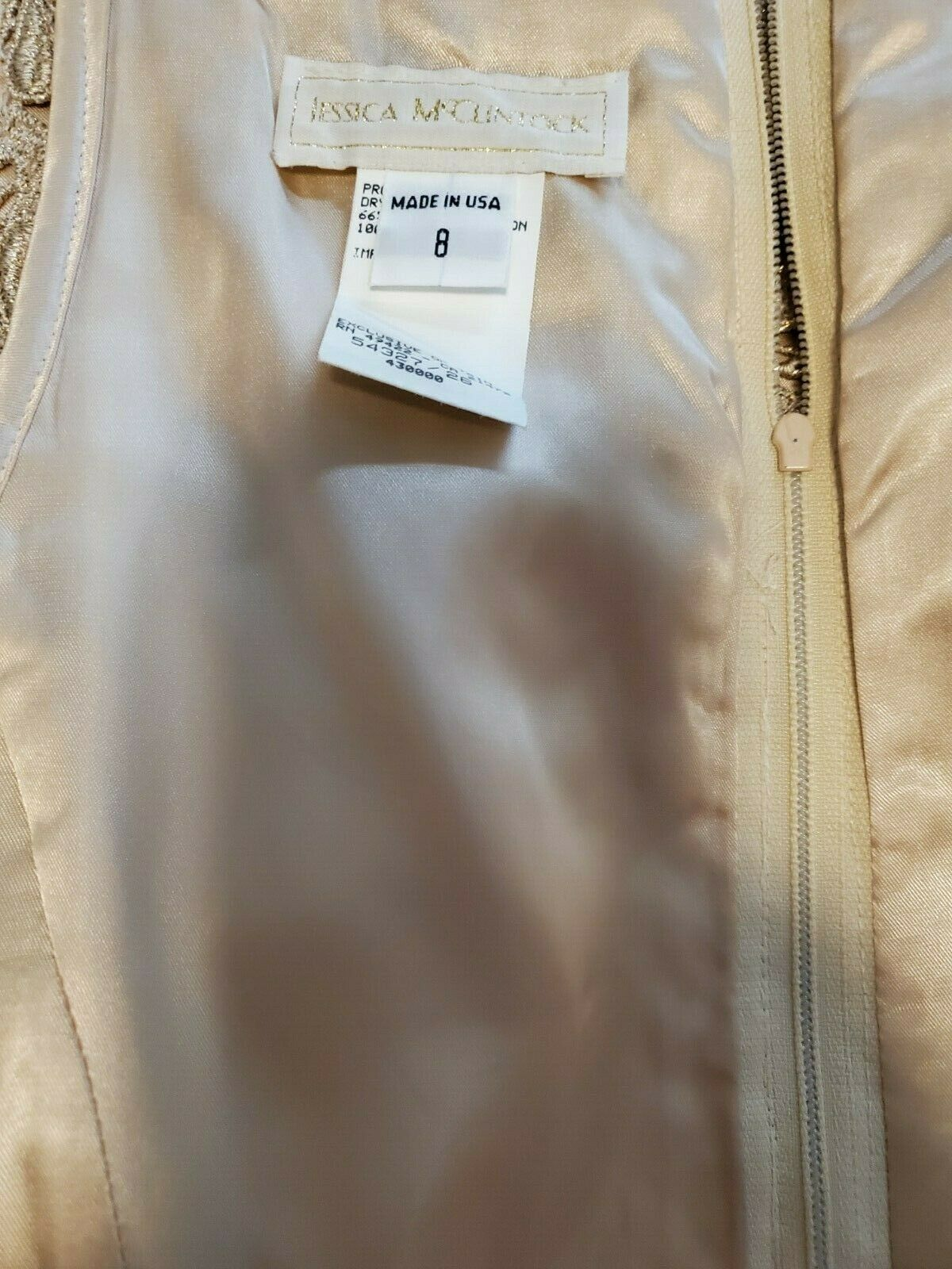 jessica mcclintock Dress Womens Size 8 Gold with … - image 10