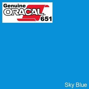 """Roll Permanent Vinyl Oracal 651 Light Blue 12/"""" x 10ft"""