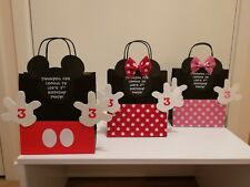 Handmade Personalised Mickey Minnie Mouse Party Bags