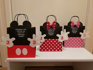 Image Is Loading Handmade Personalised Mickey Amp Minnie Mouse Party Bags