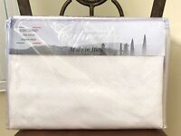 Capecchi Luxury Italy Queen White Cotton Coverlet Quilt Bedspread Diamond Piquet