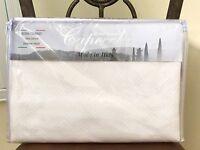 Capecchi Luxury Italy Queen White Cotton Coverlet Quilt Bedspread Diamond Piquet
