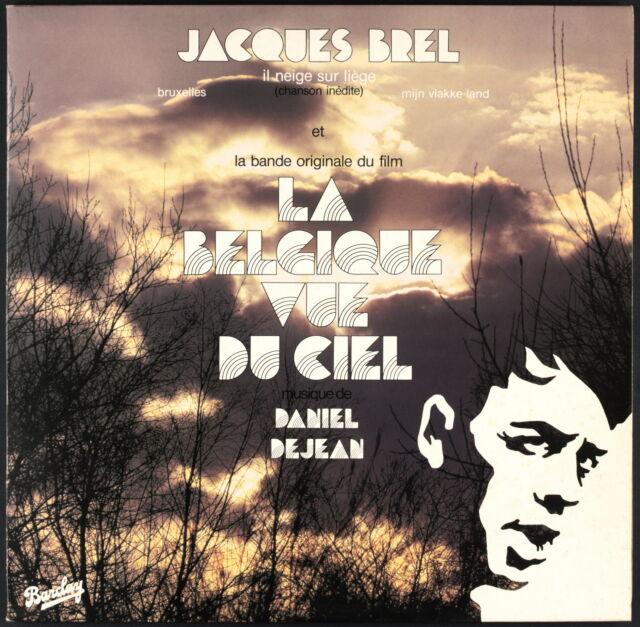 LA BELGIQUE VUE DU CIEL (JACQUES BREL / DANIEL DEJEAN) - LP - Barclay