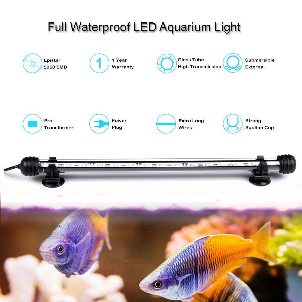 18CM-48CM Fish Aquarium Tank Light Tube LED Lamp Bar White color Waterproof