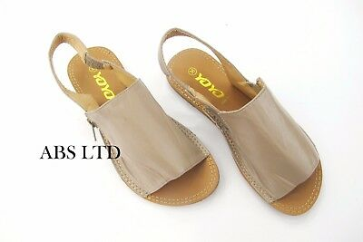 Para mujeres Damas Verano Sandalias ESLINGA vuelta Flipflop menorquina Vestido De Playa Zapatos Talla