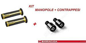 BARRACUDA KIT MANOPOLE RACING ORO + CONTRAPPESI NERO per DUCATI MULTISTRADA