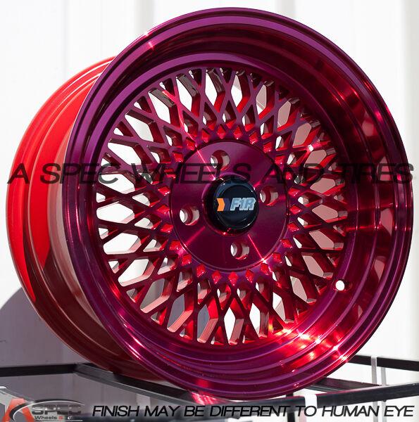 F1R F01 15x8 4x100 Et25 Red Wheels Fits Honda Accord Civic Crx Fit Del So