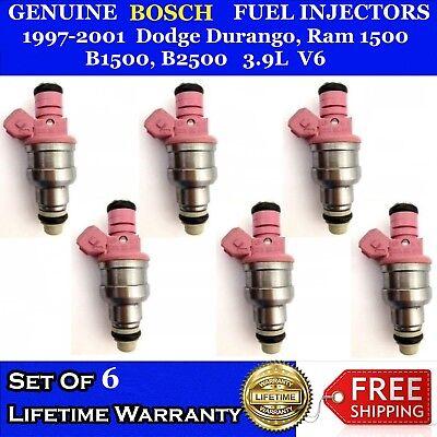 6x Bosch OEM Fuel Injectors for 1997-2001 DODGE RAM 1500//B1500//B2500//DAKOTA 3.9L