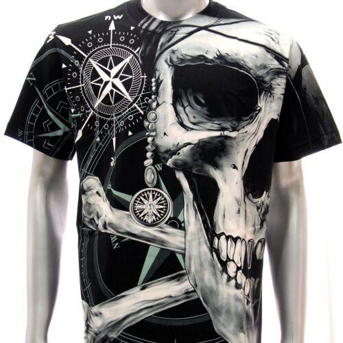 T-shirt Biker Tattoo Skull r16 Rock Eagle SPECIAL Metal Magic Ring Men Fashion