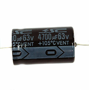 105℃ RoHS 1000uF 100V φ22x42mm SC 5pc Electrolytic Capacitor GHA Axial 2000hr