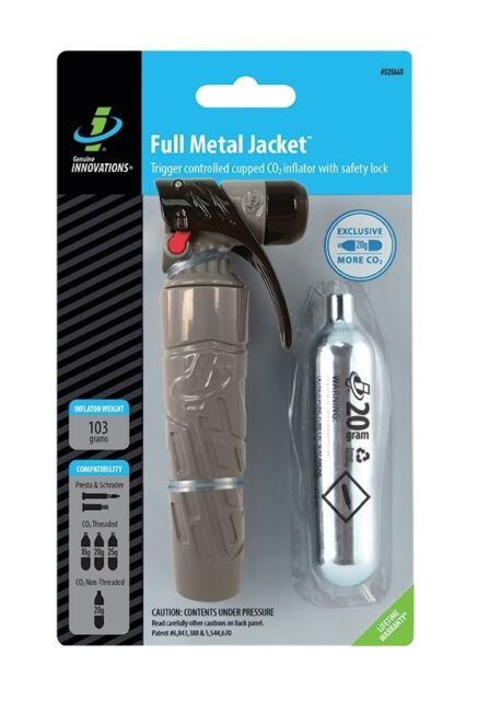Genuine Innovations G20440 Full Metal Jacket Co2 Inflator +20g Pump Bike Pr/Sh