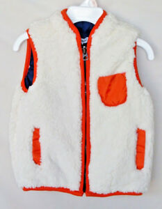 SPLENDID-Off-White-Sleeveless-Reversible-SHERPA-VEST-INFANT-SIZES-SALE-NWT