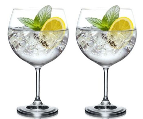 MAXIMA Wine gin and tonic Glass balloon cocktail glasses 820ml 29oz XXL set of 2