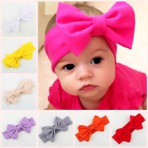 Image is loading Baby-Kids-Big-Bow-Hairband-Children-Headband-Stretch- 14c3a65d41b