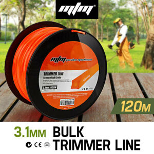 【EXTRA10%OFF】MTM Trimmer Line 3.1mm x 120M Whipper Snipper Cord Brush Cutter