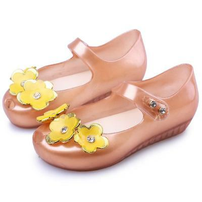 Pearl Flowers Girls Kid Mini Melissa Shoes Sandals Toddler US Size 6-11 EUR21-29