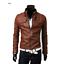 New-Men-039-s-Slim-Fit-Zipper-Designed-PU-Leather-Jacket-Coat-Free-Post-0309 thumbnail 8