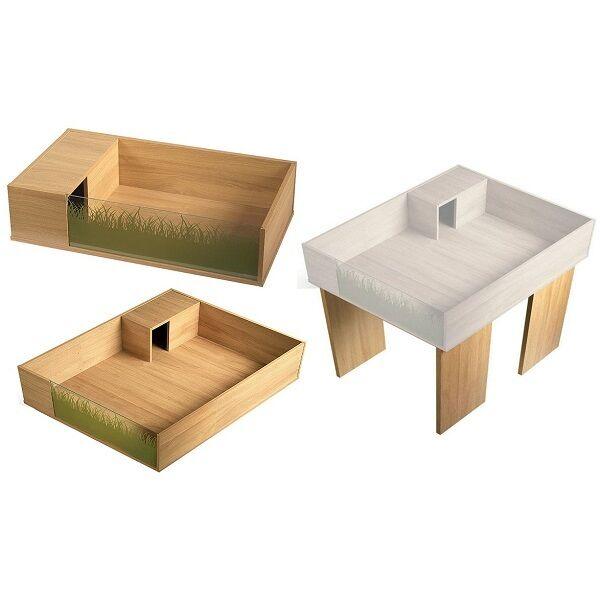 Viv-Exotic VIVA+ Oak Tortoise Table, Extension Kit, Legs Table Top Home