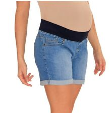 27c76571a5fb4 item 4 NWT Great Expectations Maternity Denim Blue Jeans Shorts Size XL  16-18 36