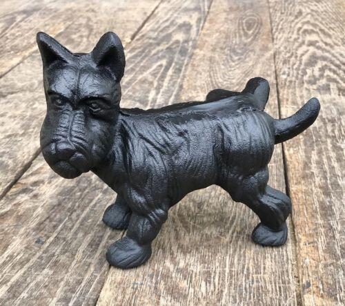 Cast Iron Peeing Black Scottish Terrier Dog Door Stop Bookend LAST ONE!!