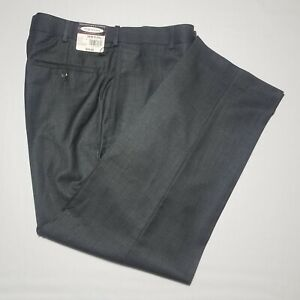 Men-039-s-NWT-50-Roundtree-Yorke-Charcoal-Flat-Front-Polyester-Rayon-Pants-34-x-29