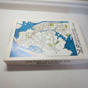 Nyc Subway Map Puzzle.Details About New York City Subway Jigsaw Puzzle 16 X 20 Assembled Size Box Contians 512 Pie