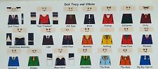 LEGO CUSTOM MINIFIG DECAL SET DICK TRACY AND VILLAINS 21 FIGURE LOT