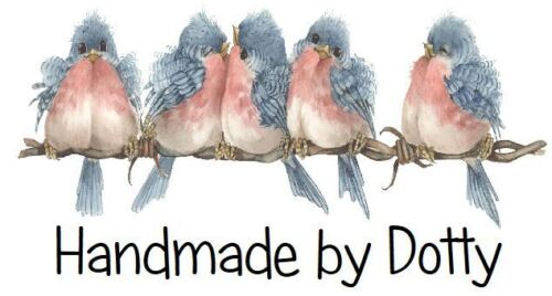 Row of Cute Birds Handmade by Personalised Mini Stickers labels x 65