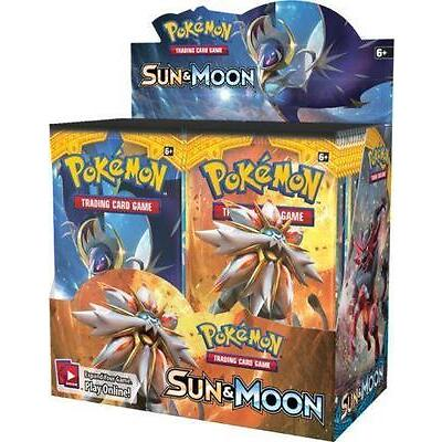 POKEMON GAME SUN AND MOON BOOSTER SEALED BOX (OVER 350 NEW CARDS!)