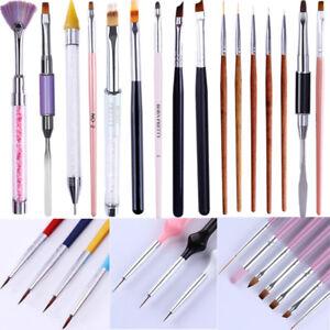 Dual-Ended-Malstift-Liner-UV-Gel-Pinsel-Zeichnung-Reinigen-Stift-Nail-Art-Tools